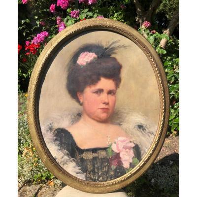 Portrait Belle Époque Levé Frederic 1877-1950.