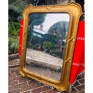 Louis Philippe Nineteenth Gilded Mirror.