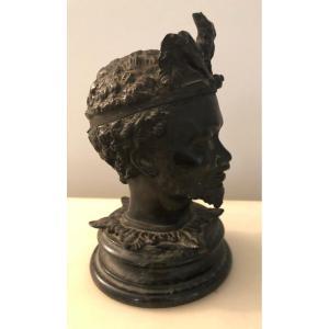 Nubian Bronze Inkwell.