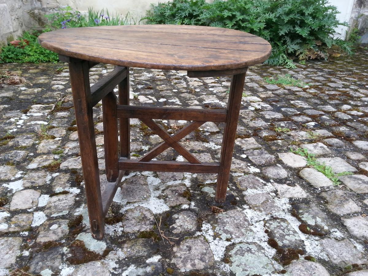 Vigneron Table. Picardie. Oak. 19th.