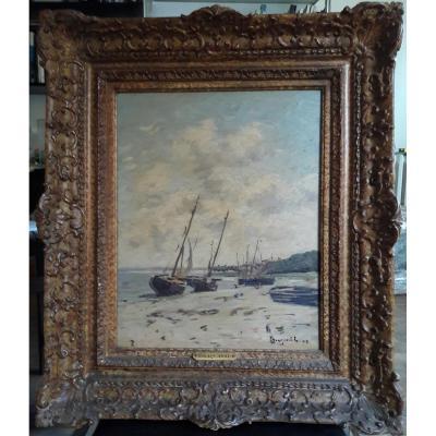 Braquaval. Marine. Oil On Canvas. 19th.