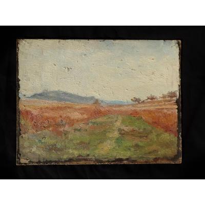 Jean-Jules Dufour (1889-1973). Huile Sur Carton. Les Vosges.