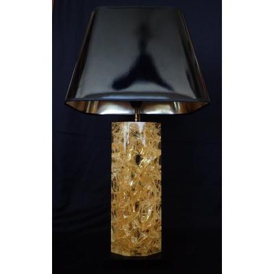 Lampe En Résine Fractale. 1970's.