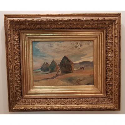 "Tableau ""meules De Foin"" De Gustave Guignery"