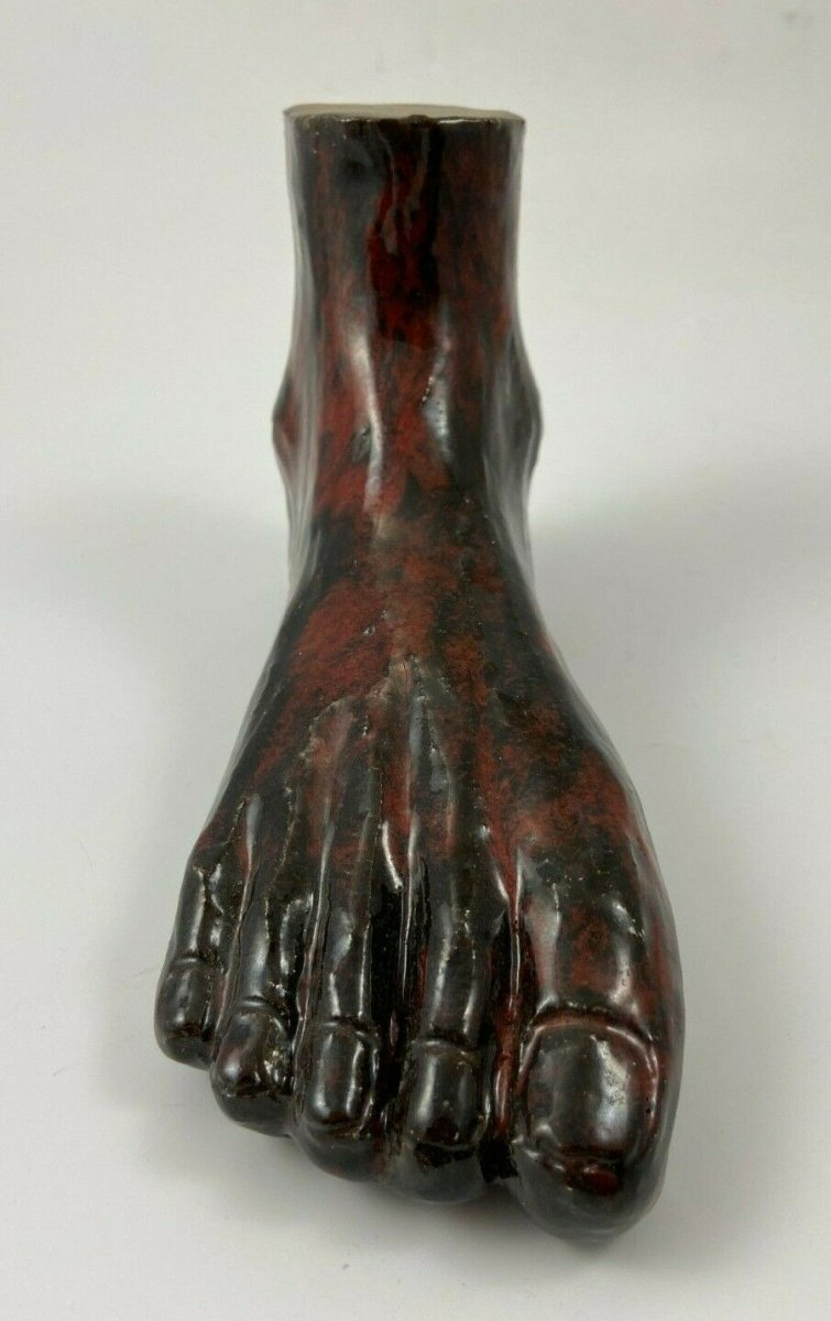 Foot In Varnished Terracotta 1950 Sculpture Design Cabinet De Curiosite