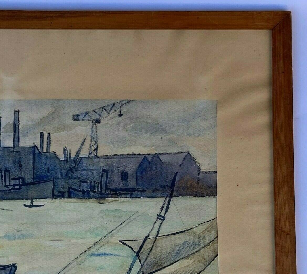 Watercolor On Paper By Robert Louis Antral Scene Of Sinners-photo-1