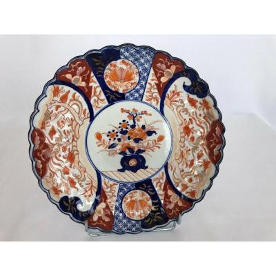 Large Imari Japan Porcelain Dish Polylobe With Seal 19th