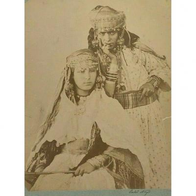 Photo Albumine Femmes Berberes Ouled Nayls Nail Costume Carton Contrecolle