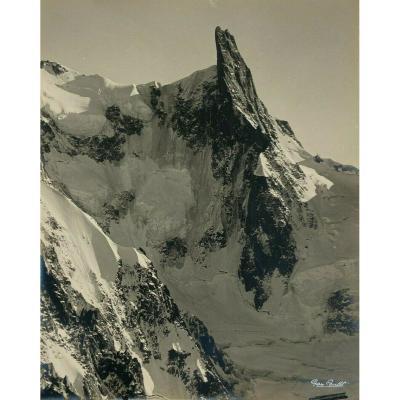 Gay-Couttet Photo argentique Chamonix massif glacier aiguille 30 x 24