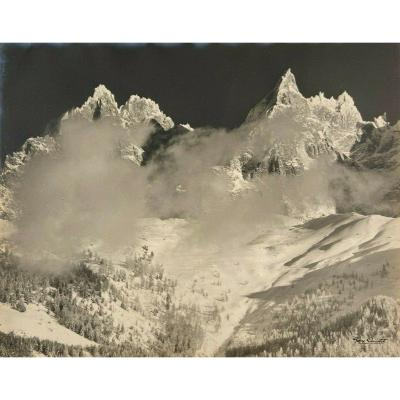 Photo Gay-Couttet tirage argentique Massif Glacier Montagne 30 x 24 cm