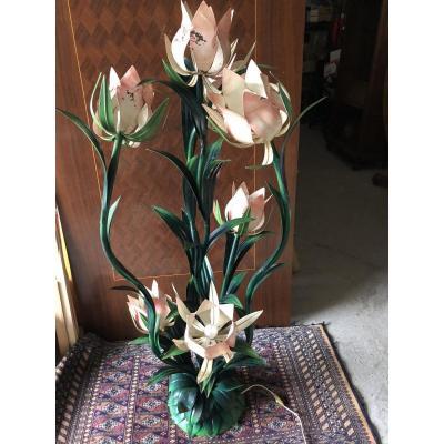 Lampadaire fleurs  En Tôle