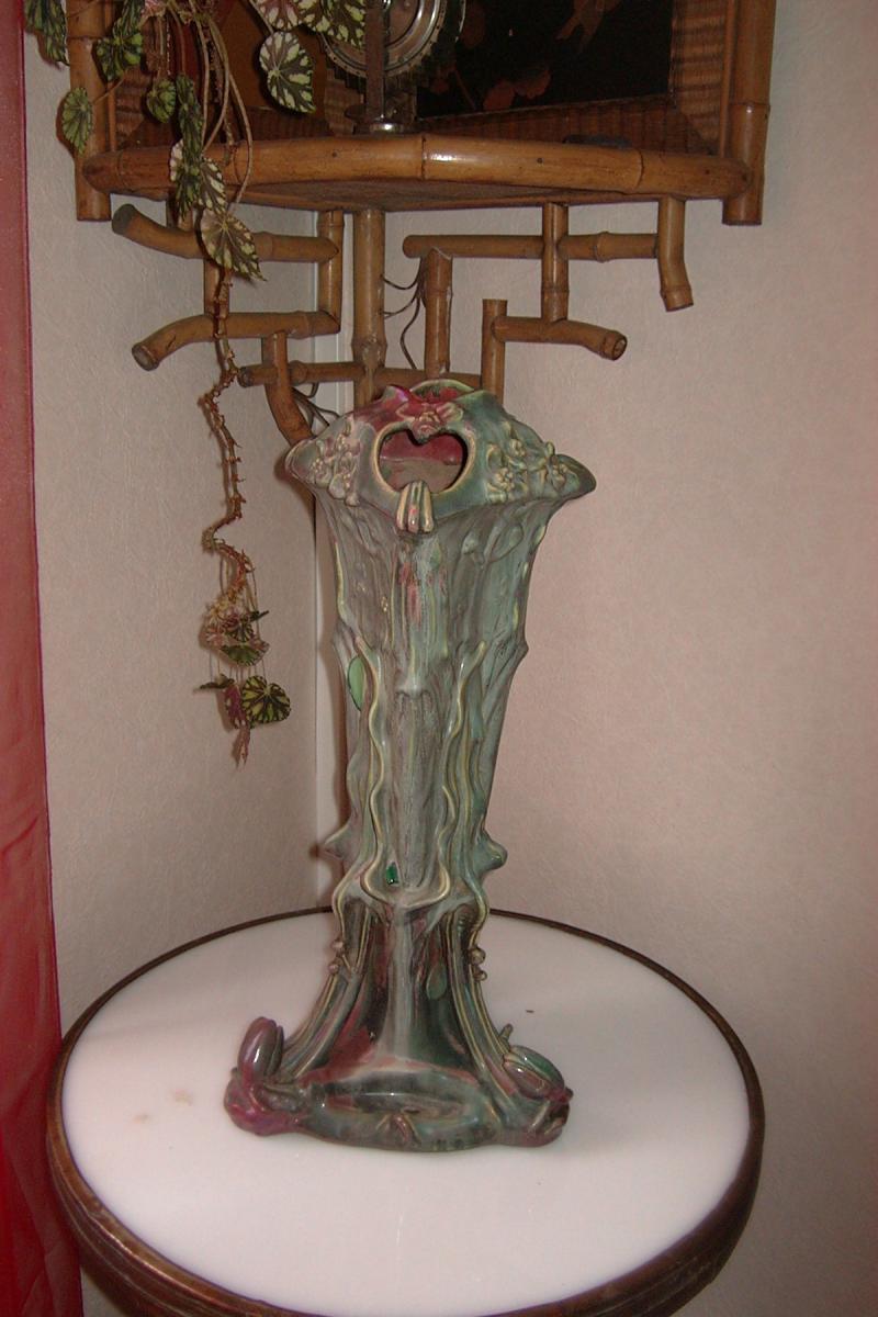 Vase Art Nouveau De Majorelle Et Bussières aux nénuphars-photo-2