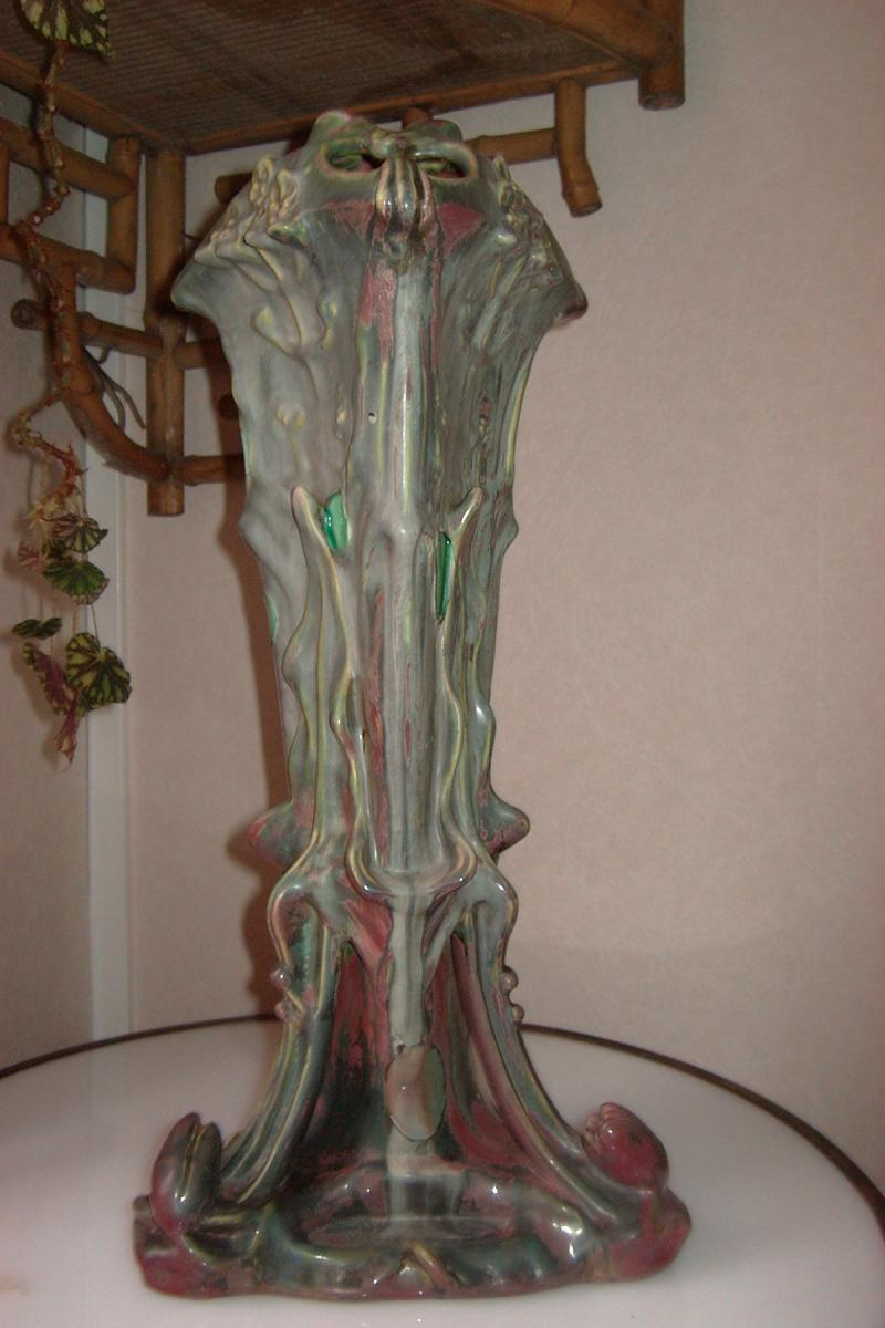 Vase Art Nouveau De Majorelle Et Bussières aux nénuphars-photo-4