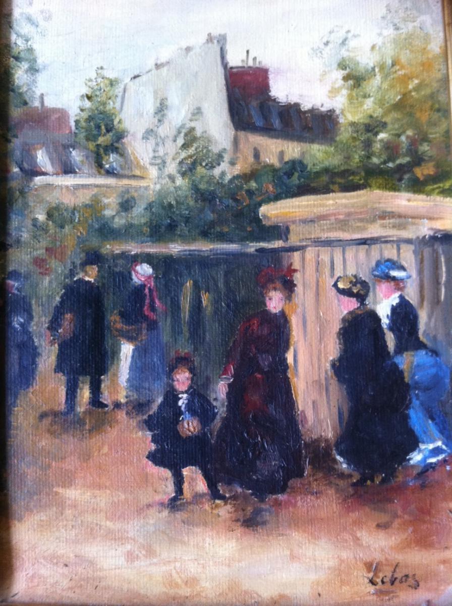 Huile Sur Toile, Léonie Lebas (xixème Siècle)