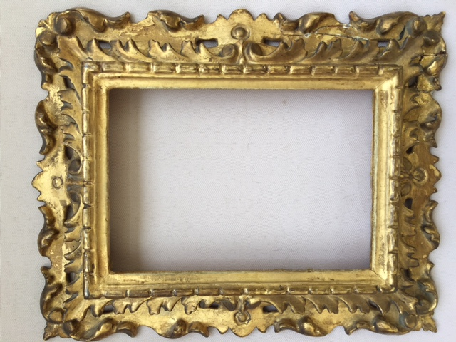 Small Italian Gold Frame, Sculpted Wood, XIXth Century - old frames