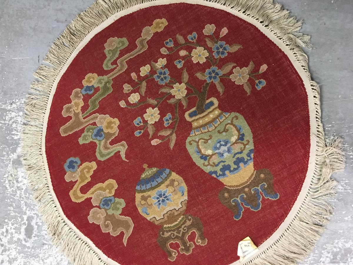 Round Rug China Wool And Silk Th