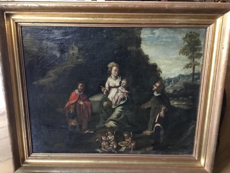 Virgin And Child, Spanish School, XVII
