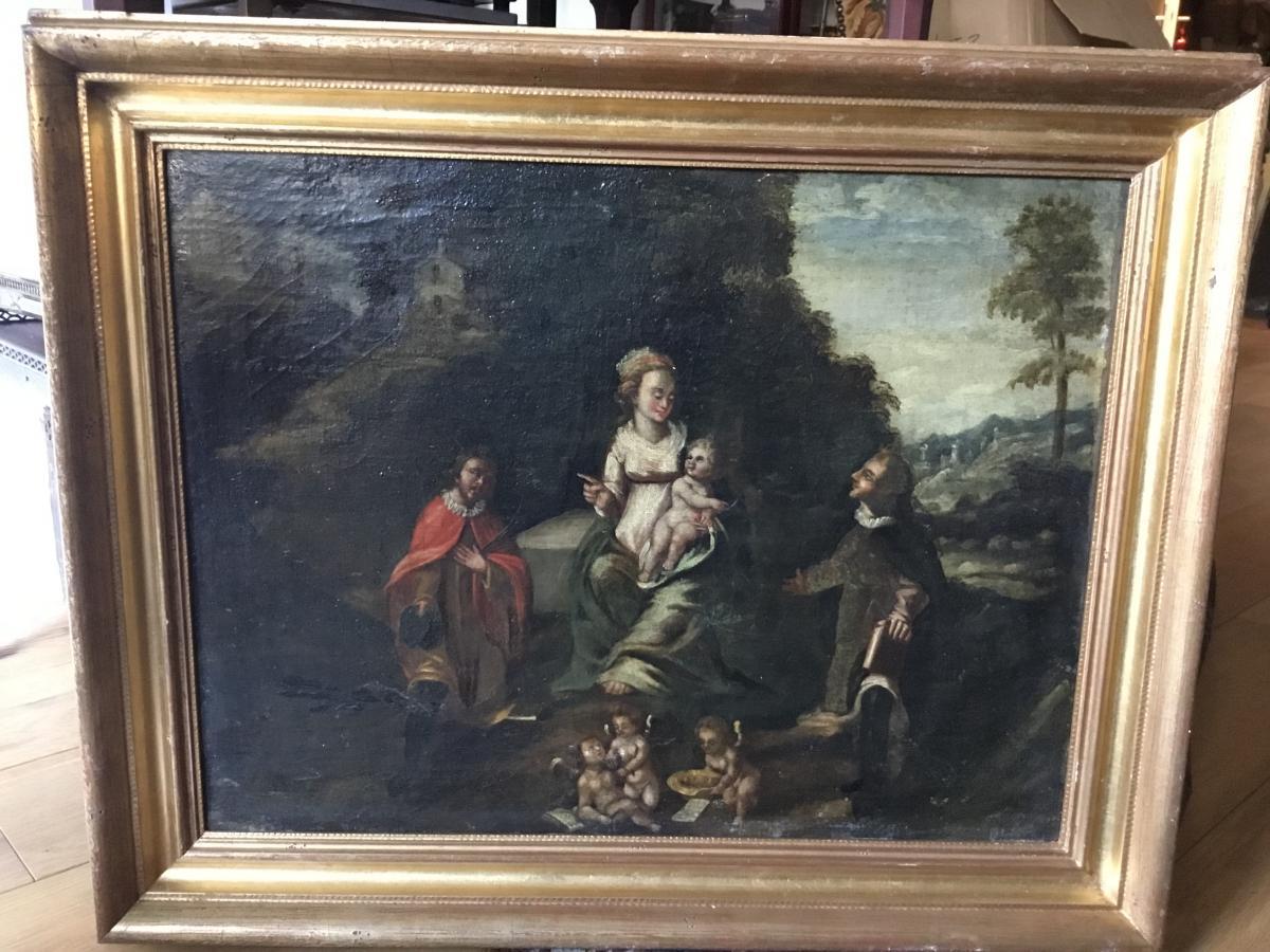 Virgin And Child, Spanish School, XVII-photo-3