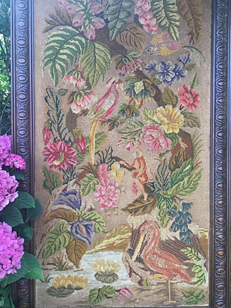 Large Framed Embroidery, Early Twentieth