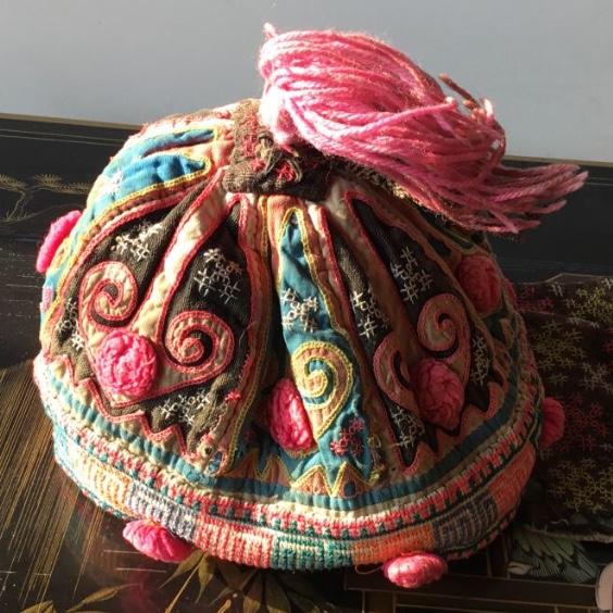 Bonnet Brodé, Mongolie, Début XXème