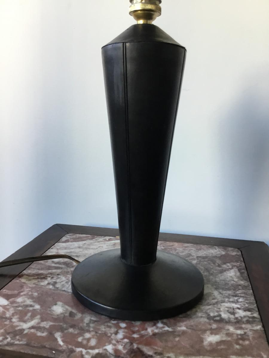 Foot Lamp Black Leather Pique Sellier