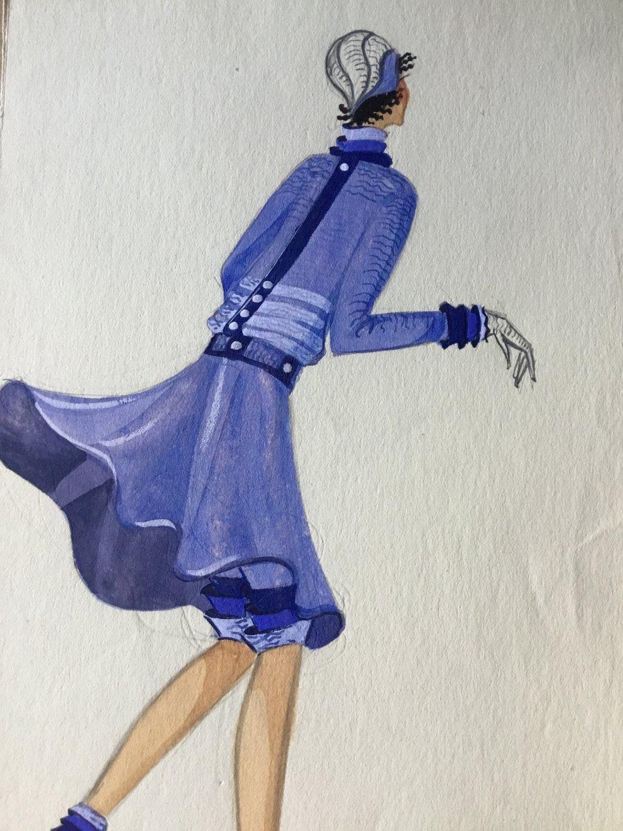 Dessin De Mode Original De Suzanne Lecoconnier