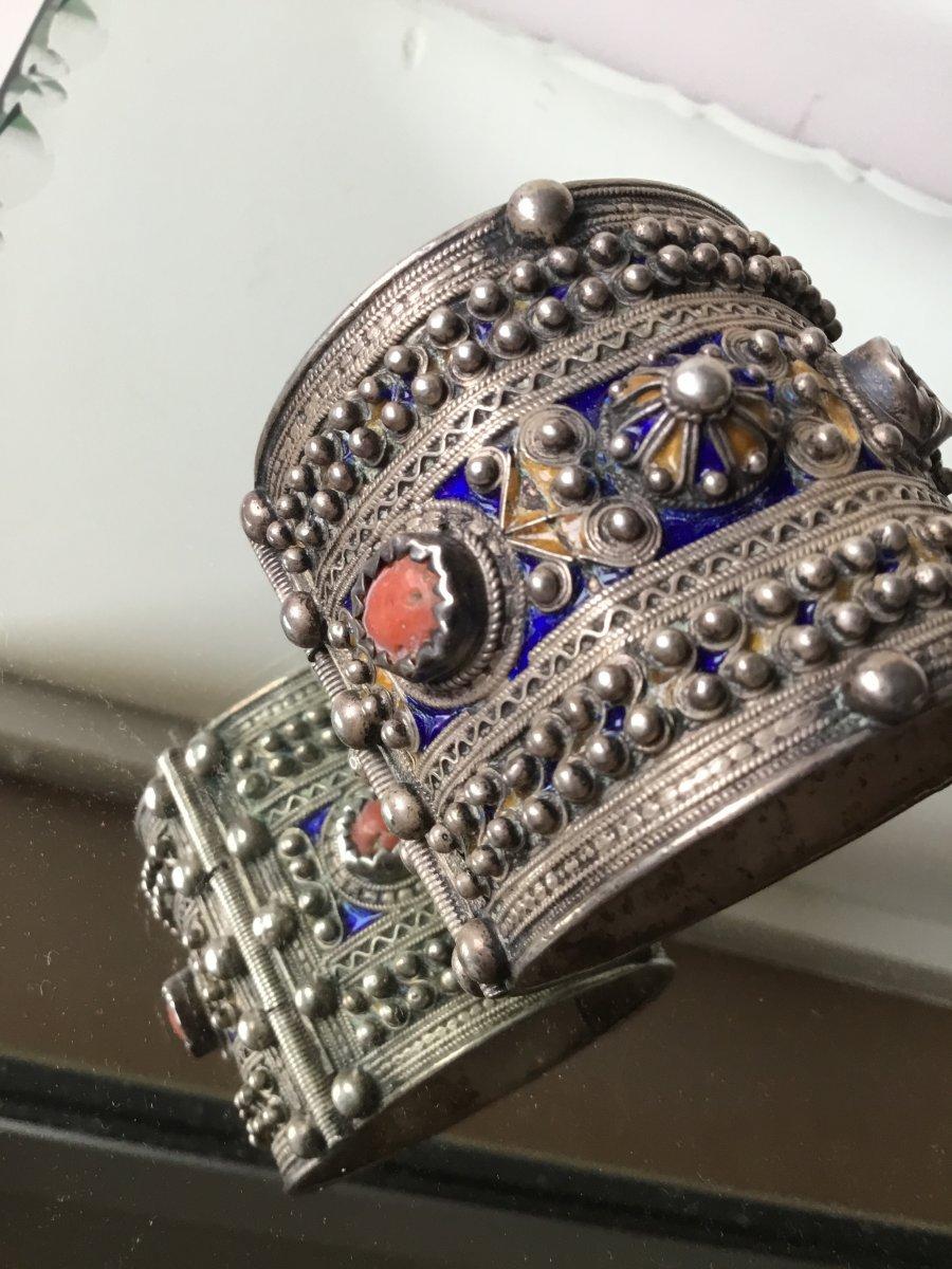 Large Kabylie Berber Articulated Bracelet (xixth Century).