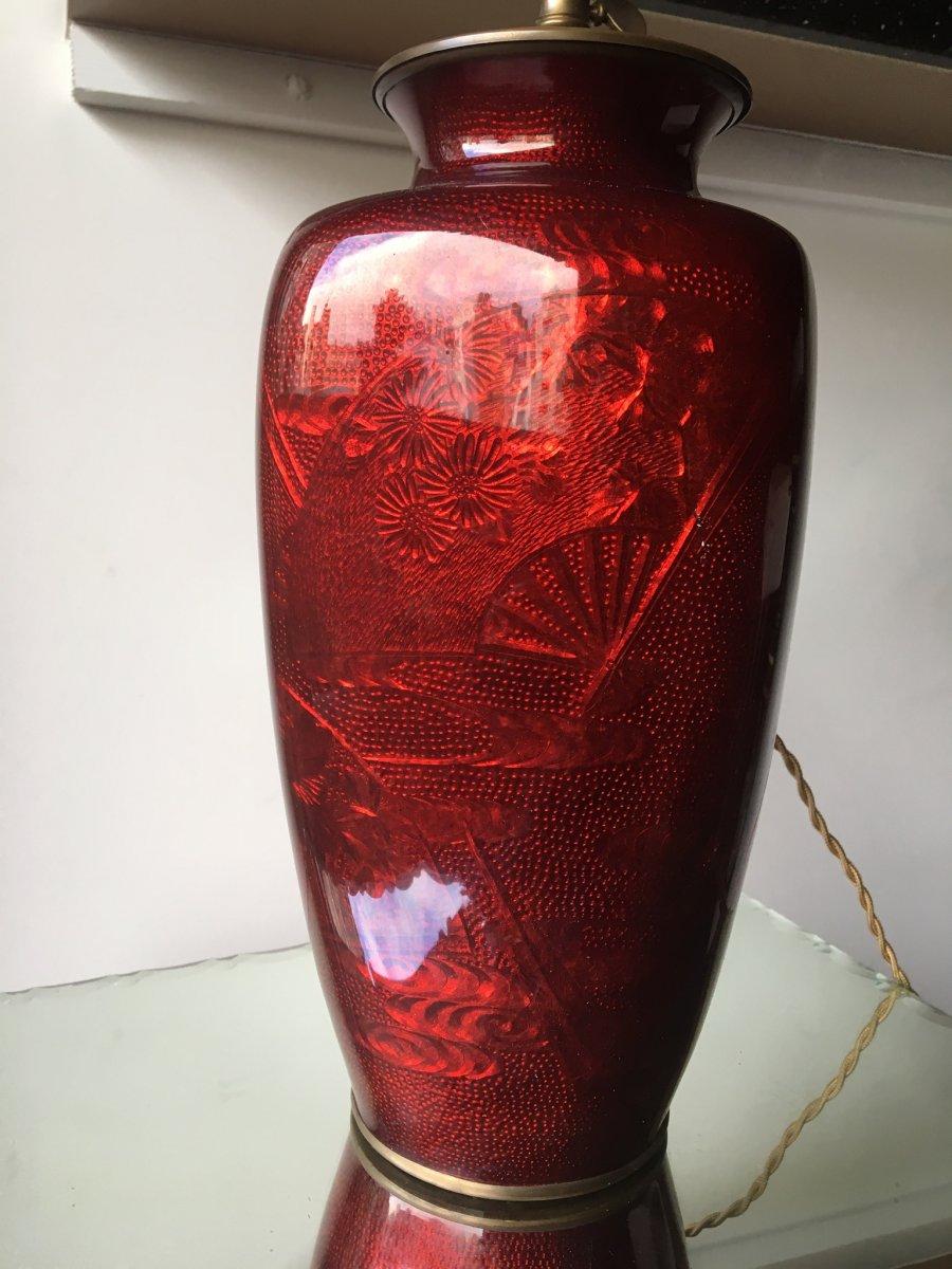 Vase à Décor D'eventails, Japon, époque Showa