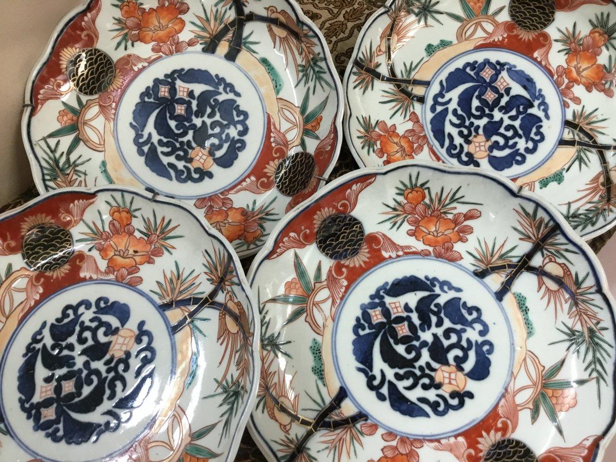Petits Plats En Porcelaine Imari Japon , XIXème