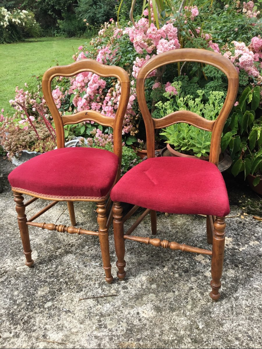 Deux Chaises D'appoint Louis Philippe Assorties -photo-2