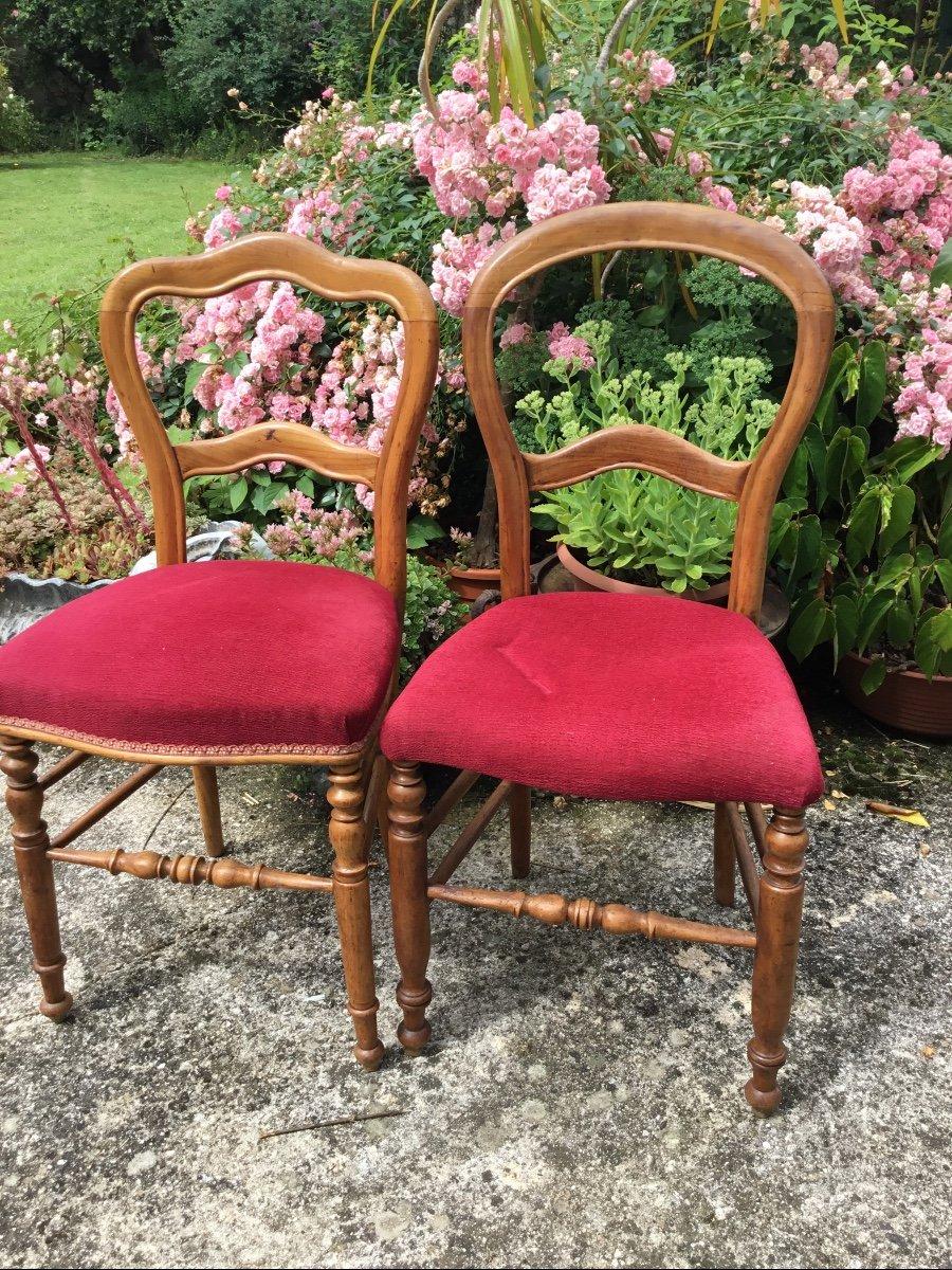 Deux Chaises D'appoint Louis Philippe Assorties -photo-3