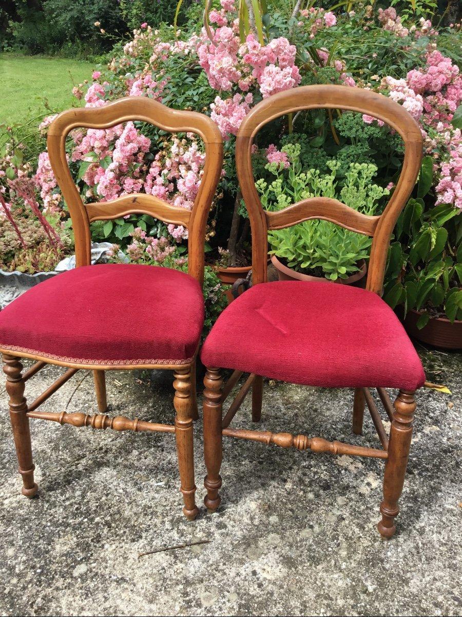 Deux Chaises D'appoint Louis Philippe Assorties -photo-4