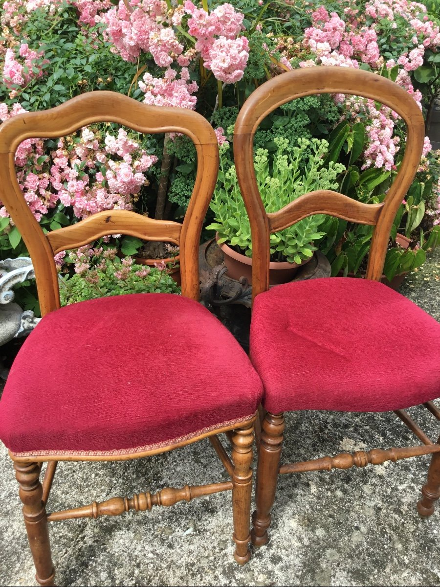 Deux Chaises D'appoint Louis Philippe Assorties -photo-1