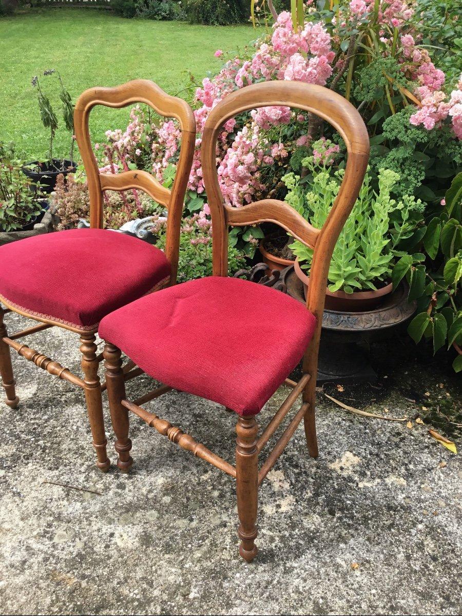 Deux Chaises D'appoint Louis Philippe Assorties -photo-5