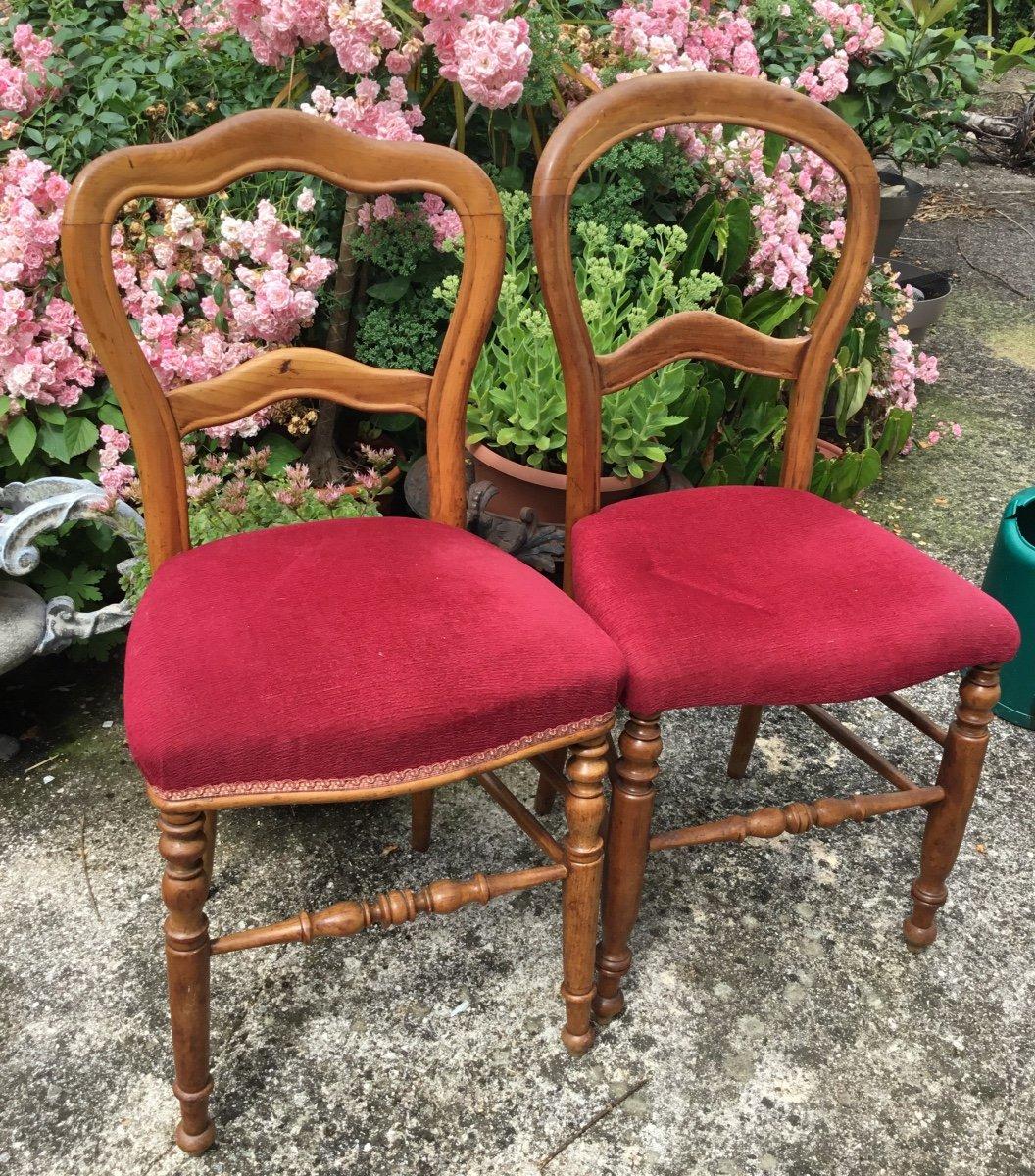 Deux Chaises D'appoint Louis Philippe Assorties