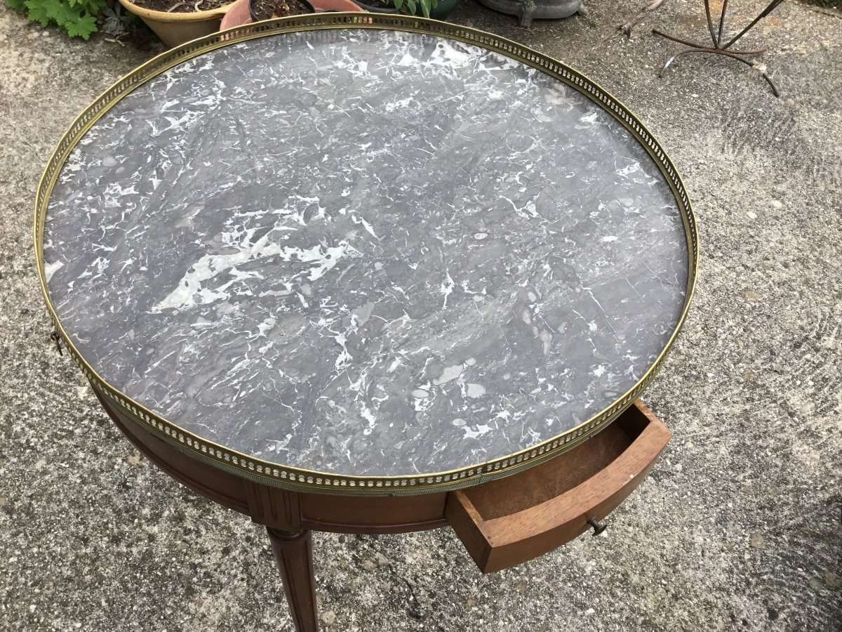 Louis XVI Style Bouillotte Table By Cabinetmaker Frederic Massin-photo-4
