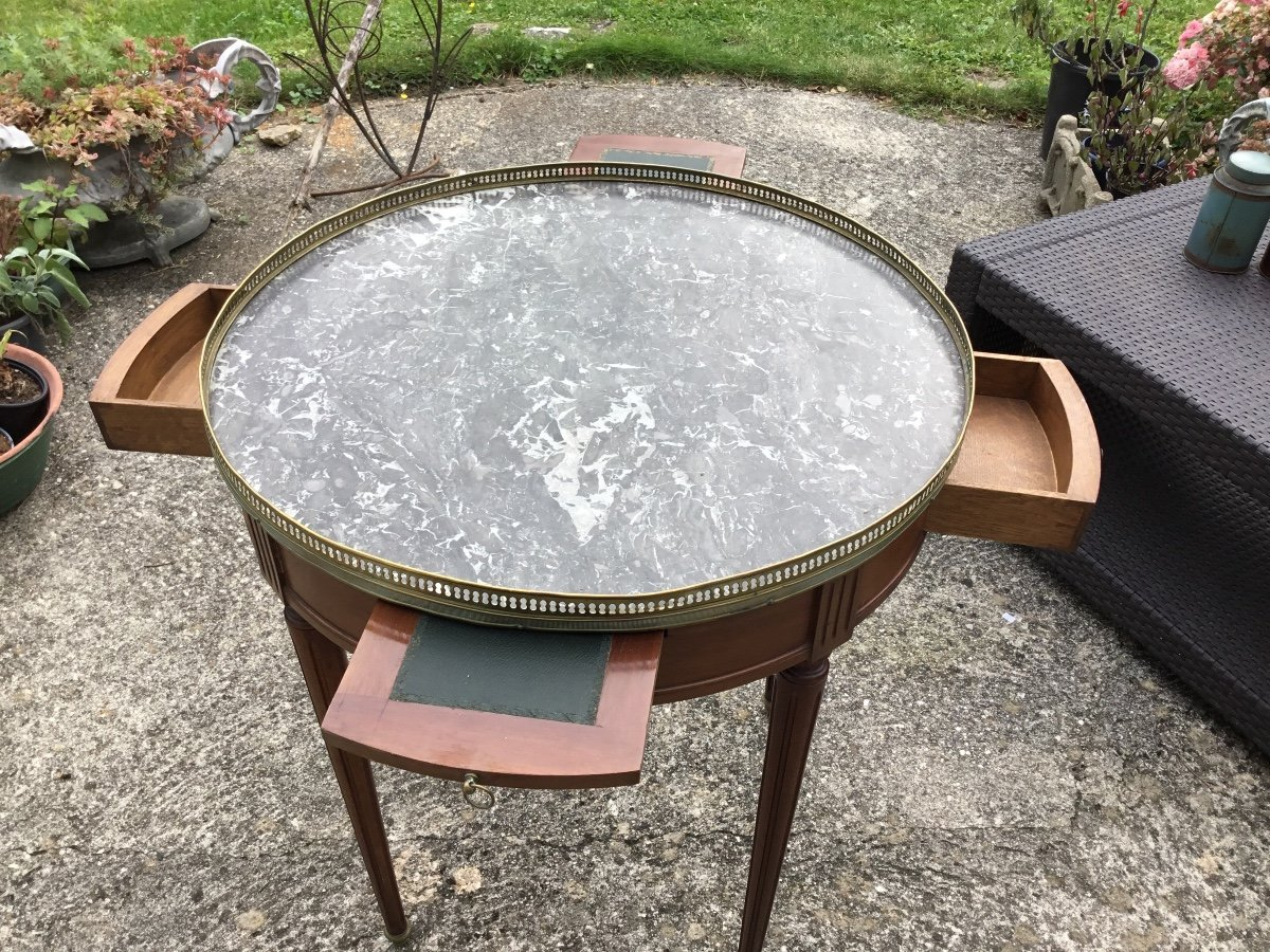 Louis XVI Style Bouillotte Table By Cabinetmaker Frederic Massin-photo-6