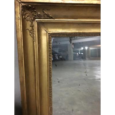 Miroir Dans Un Encadrement à Palmettes , D'époque Empire
