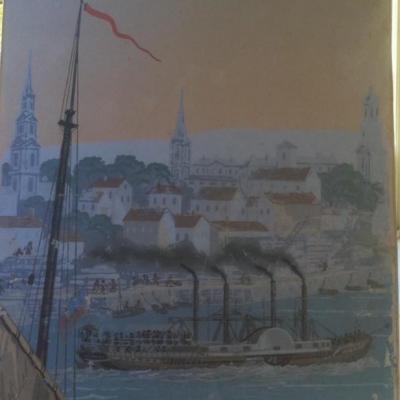 Panneau De Papier Peint Panoramique XIXème