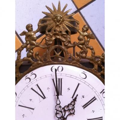 Mouvement d'Horloge Comtoise , XVIIIème