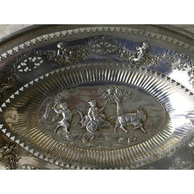 Large Silver Basket, Nineteenth
