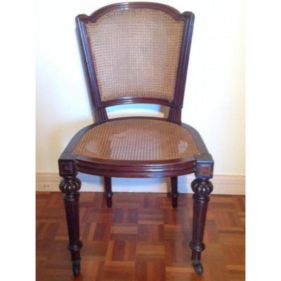 Belle Suite De 12 Chaises En Acajou Massif, XIXème