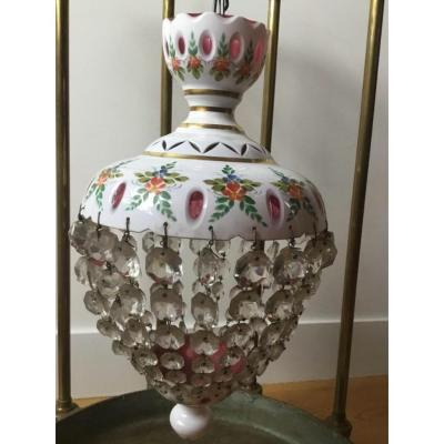 Ceiling Lamp In Opaline, Napoleon III Lii