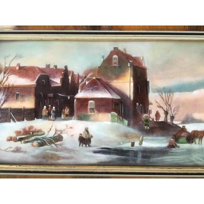 Camille Fauré, Paysage D'hiver Hollandais