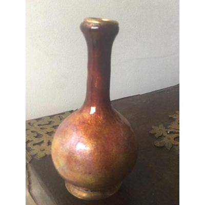 Vase Miniature émaillé A Marty, Limoges,  1900-1920