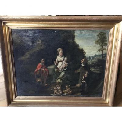 Vierge à L'enfant, École Espagnole, XVIIème
