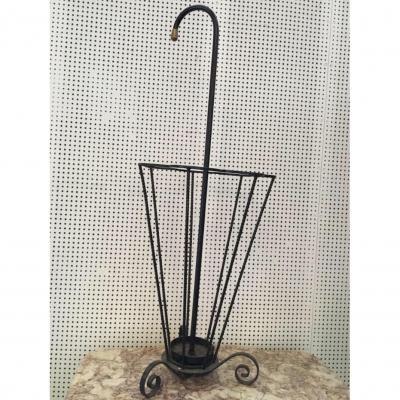 Porte Parapluie En Fer Forgé, Années 1950