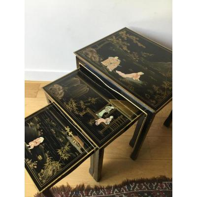 Suite 3 Nesting Tables Decor Lacquer From China
