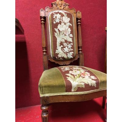 Chaise Basse Couverte De Tapisserie, Napoléon III