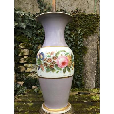 Grand Vase En Porcelaine De Paris, époque Napoléon III